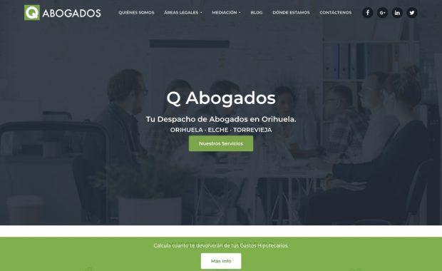 Diseño Despacho de Abogados QAbogados