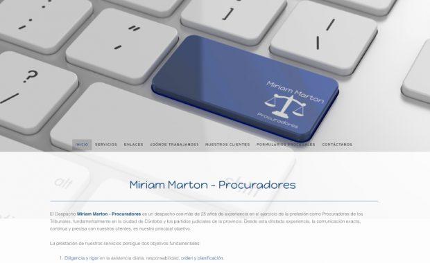 Diseño Web Procuradores Miriam Marton