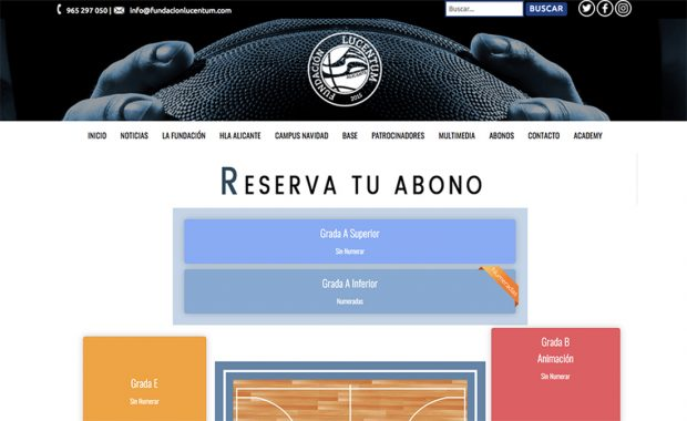 Apliacion Web Venta Abonos Club Baloncesto